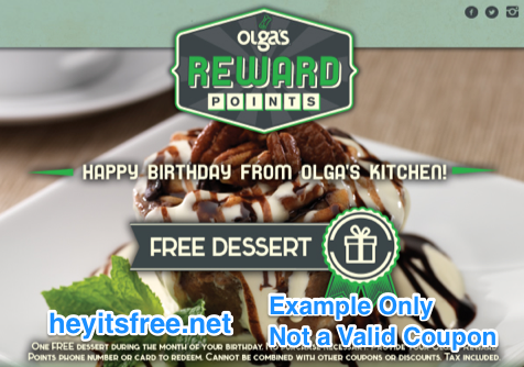 Olga's Kitchen Birthday Freebie