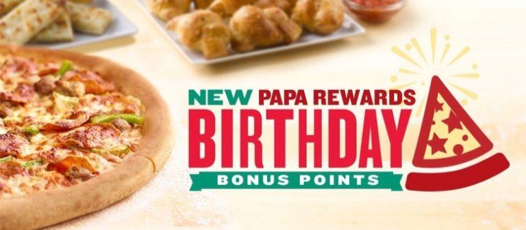 Papa Johns Birthday Freebie