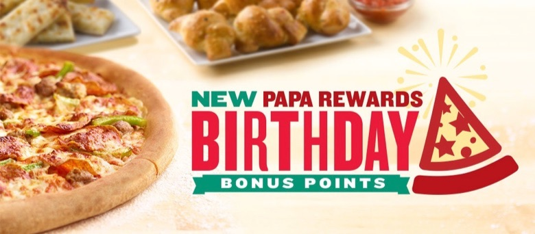 Papa Johns Birthday Freebie