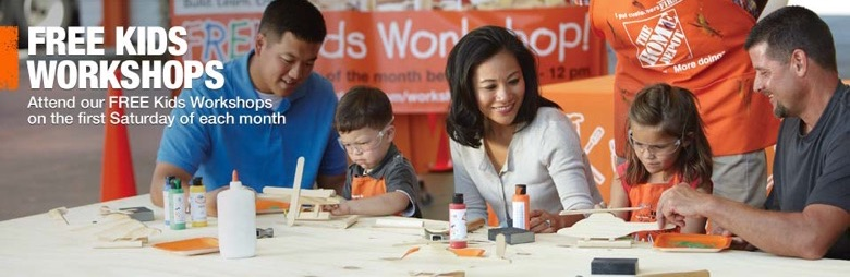 Free Home Depot Kids Workshop