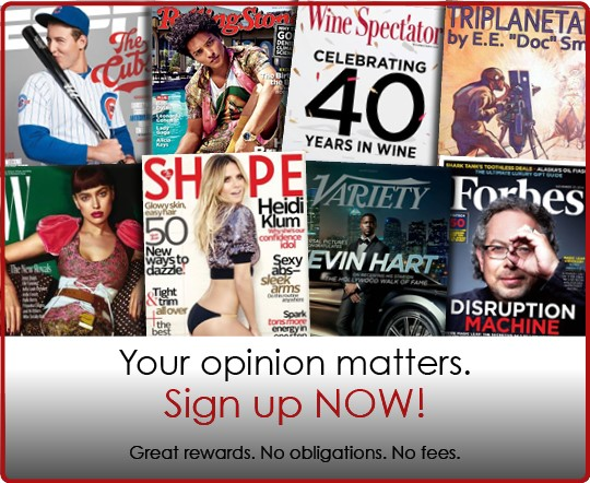 Free RewardSurvey Magazine Subscriptions