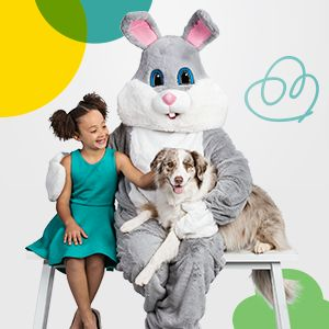 Free Pet Photo with Easter Bunny at Petsmart