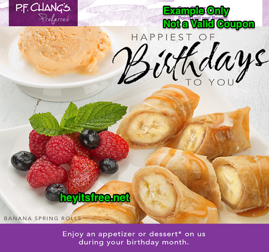 PF Changs Birthday Freebie
