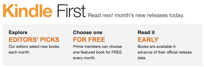 Kindle First Free Books