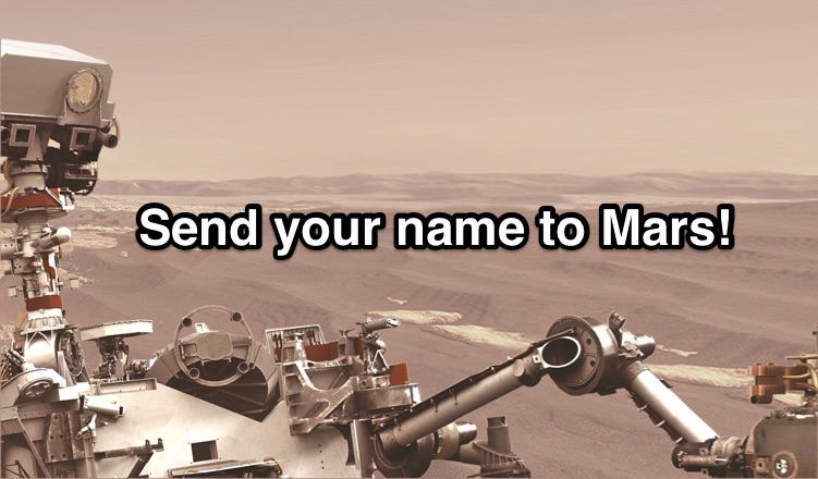 NASA send name to Mars for free