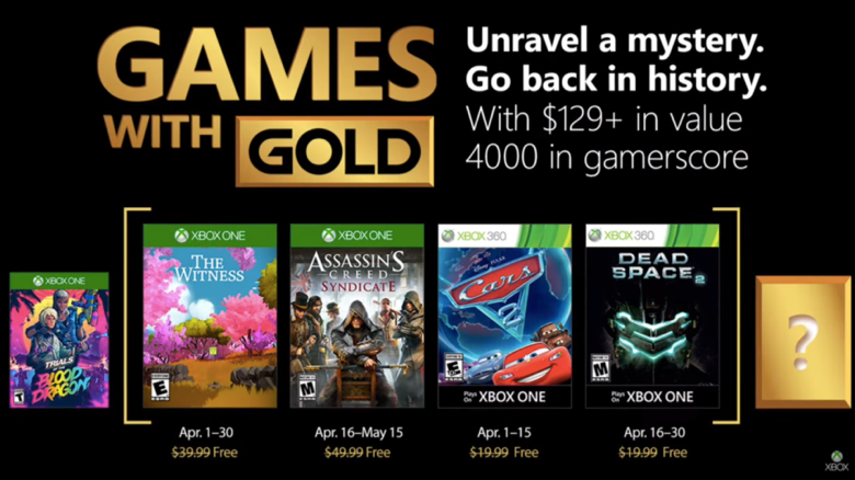 Free Xbox Gold Video Games for April 2018