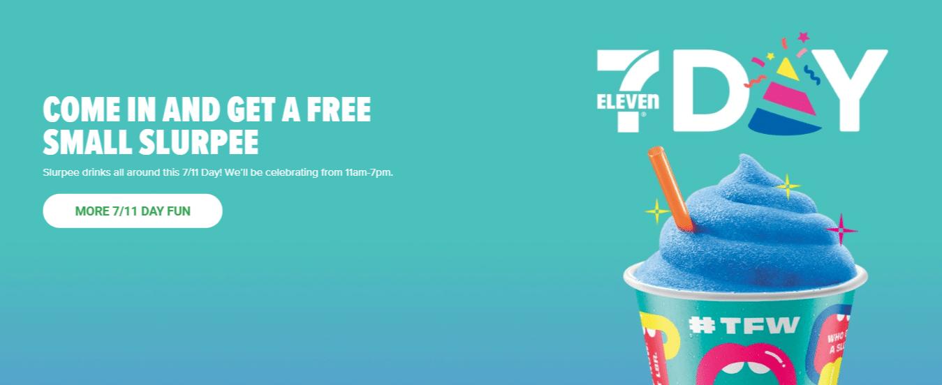 Free 7-Eleven Slurpee Day