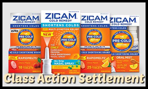 Zicam Class Action Settlement