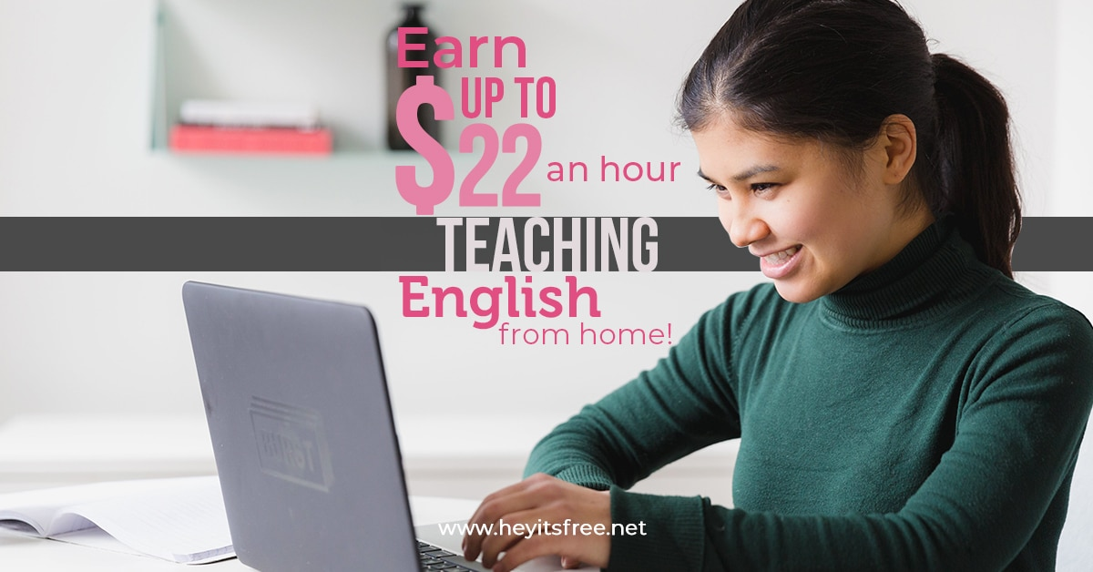 Earn $20+ per hour teaching English from home