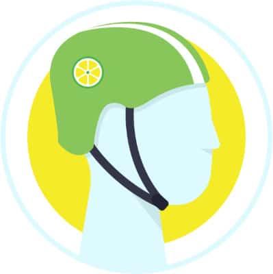 Free Lime Helmet