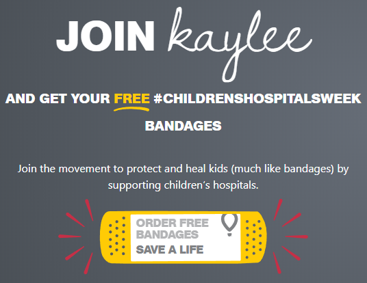 Free Children's Miracle Network Bandages