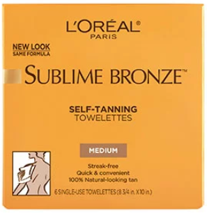 Free L'Oreal Sublime Bronze Self-Tanning Towelettes
