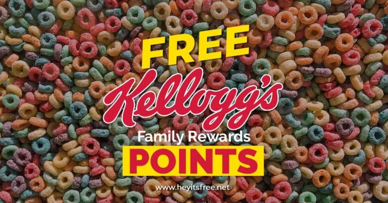 Free Kellogg's Family Rewards Points