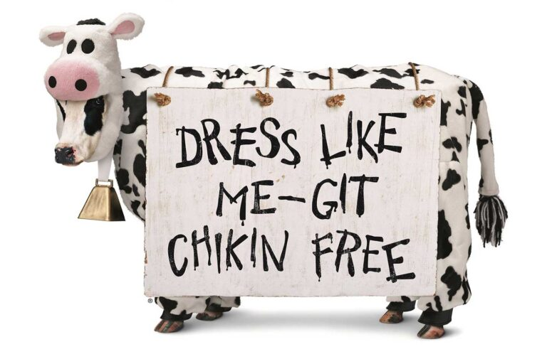 Free Chick-fil-A Entree Dressed as Cow