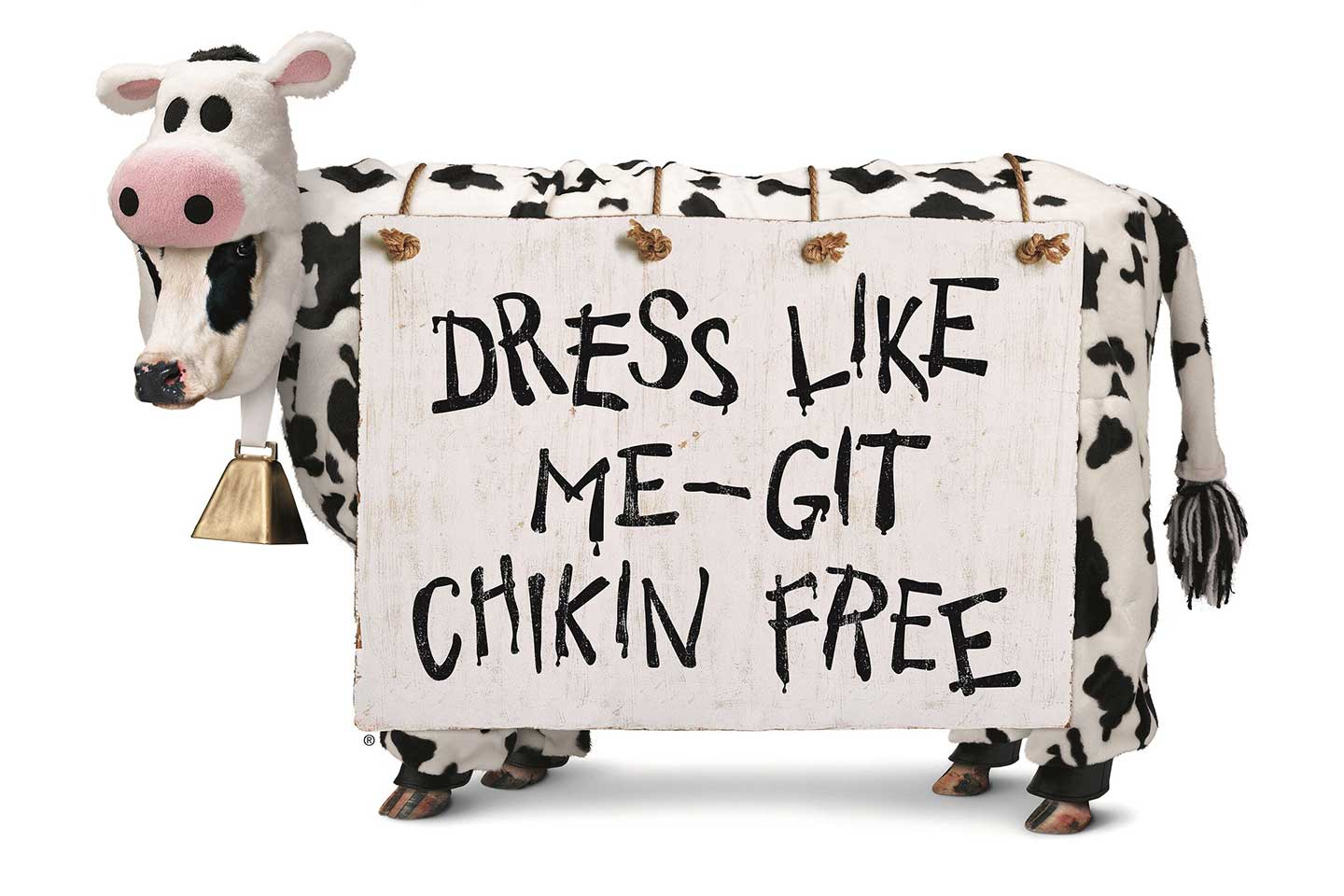Free Chick-fil-A Entree Dressed as Cow Appreciation Day