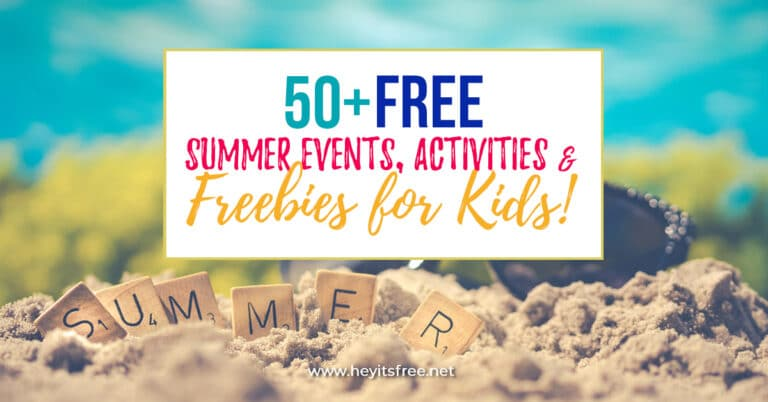 Free Summer Events, Activities, Freebies for Kids