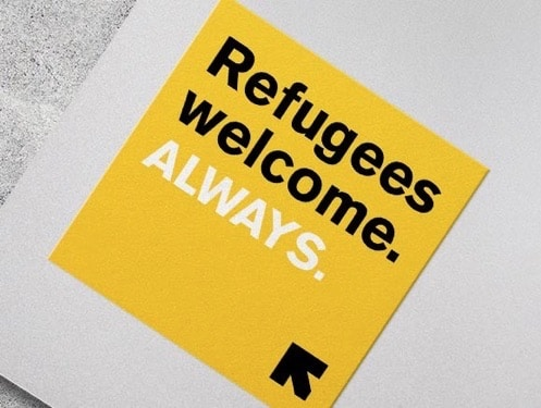 Free Refugees Welcome Sticker