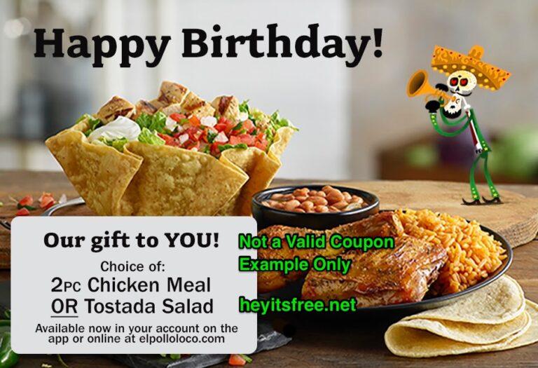 El Pollo Loco Birthday Freebie