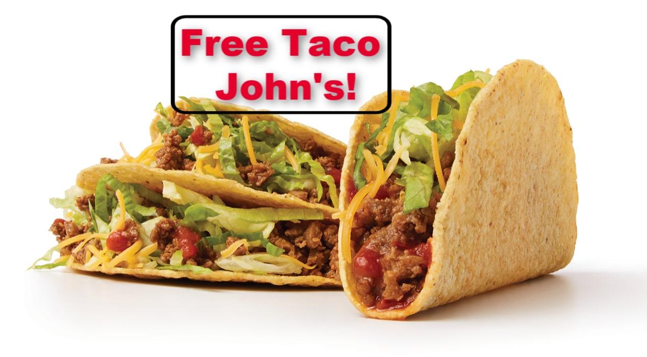 Free Taco John's Beef Tacos