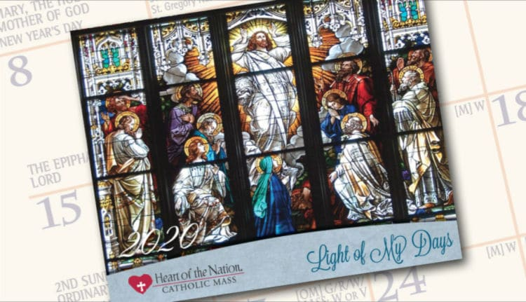 Free 2020 Catholic Wall Calendar