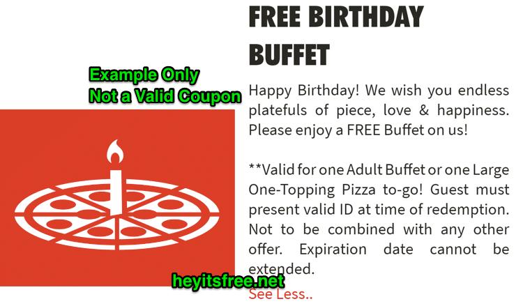 Cicis Pizza Birthday Freebie
