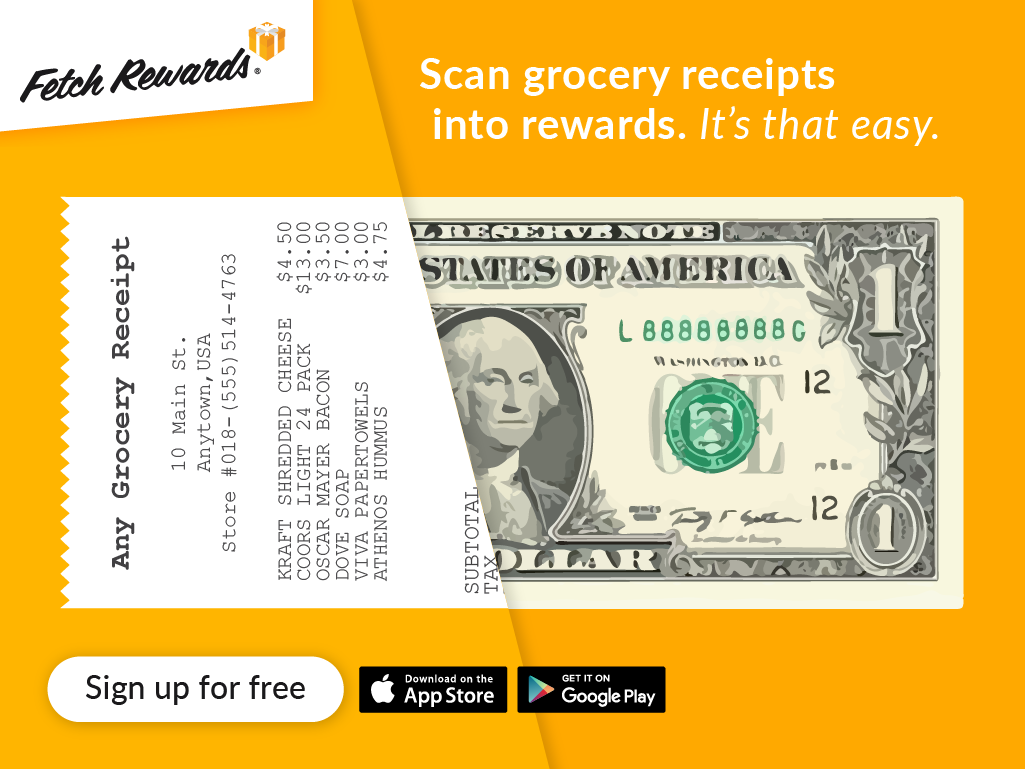 Fetch Earn Money from Grocery Receipts