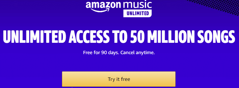 Free Amazon Music Unlimited