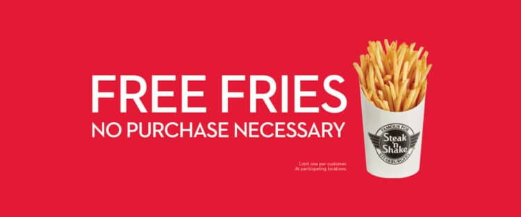 Free Steak 'n Shake French Fries