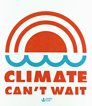 Free Climate Can't Wait Sticker