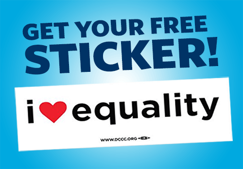 Free I Love Equality Sticker