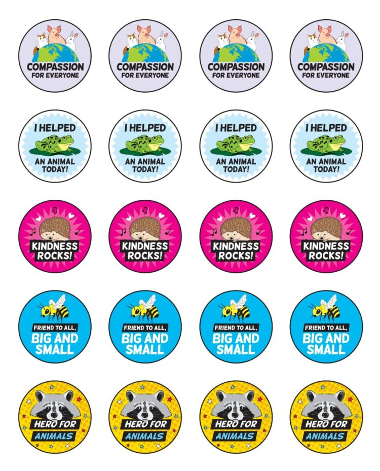Free PETA Teach Kind Stickers