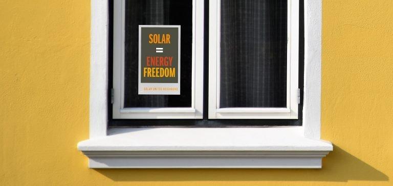 Free Solar Energy Window Clings