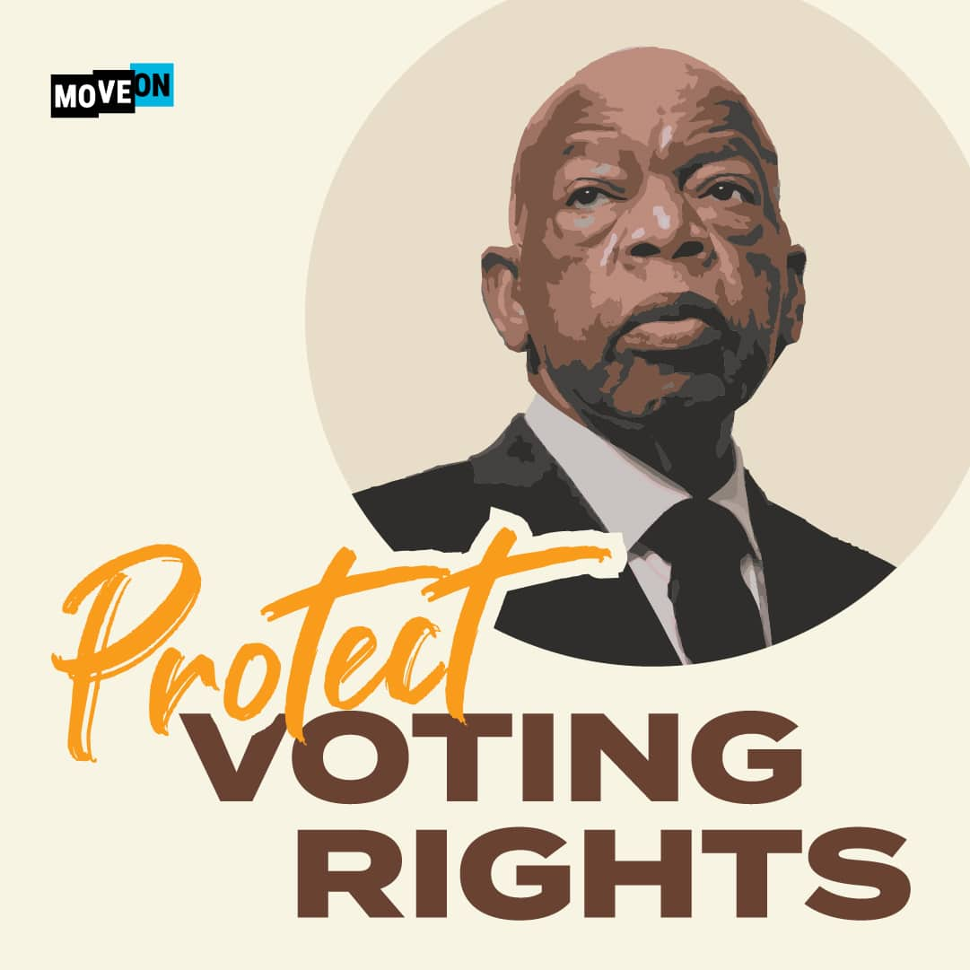 Free John Lewis Protect Voting Rights Sticker