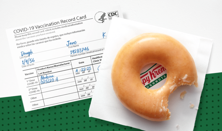 Free Krispy Kreme Doughtnut with Vaccination Card