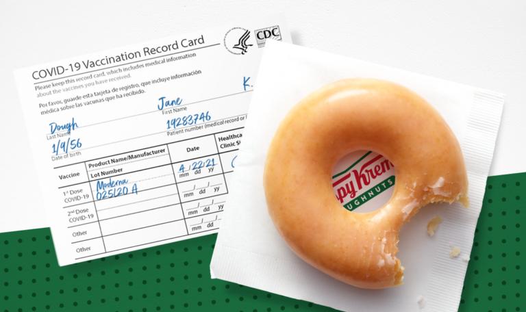 Free Krispy Kreme Doughtnut with Vaccination Card