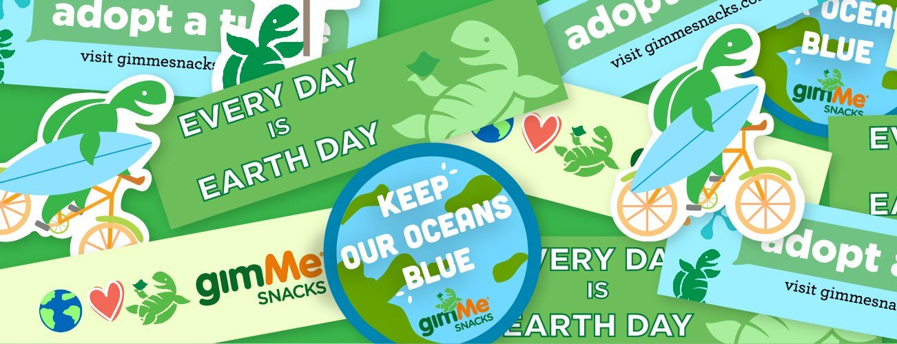 Free Gimme Snack Earth Day Stickers