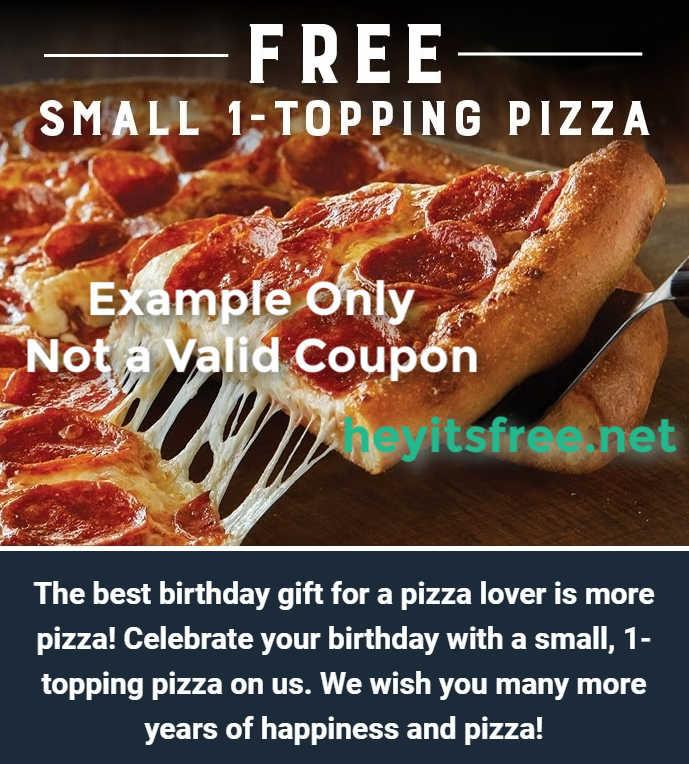 Marco's Pizza Birthday Freebie