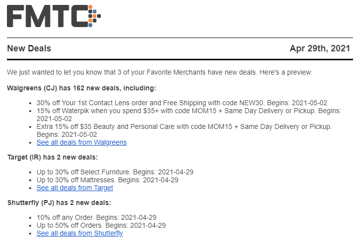 FMTC Daily Deal Email