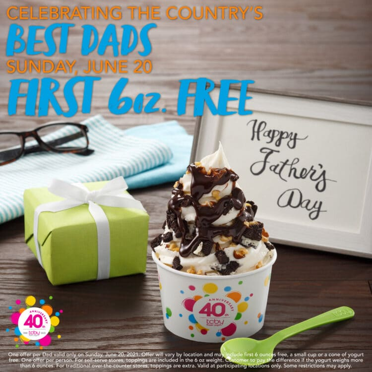 Free TCBY Yogurt for Father's Day