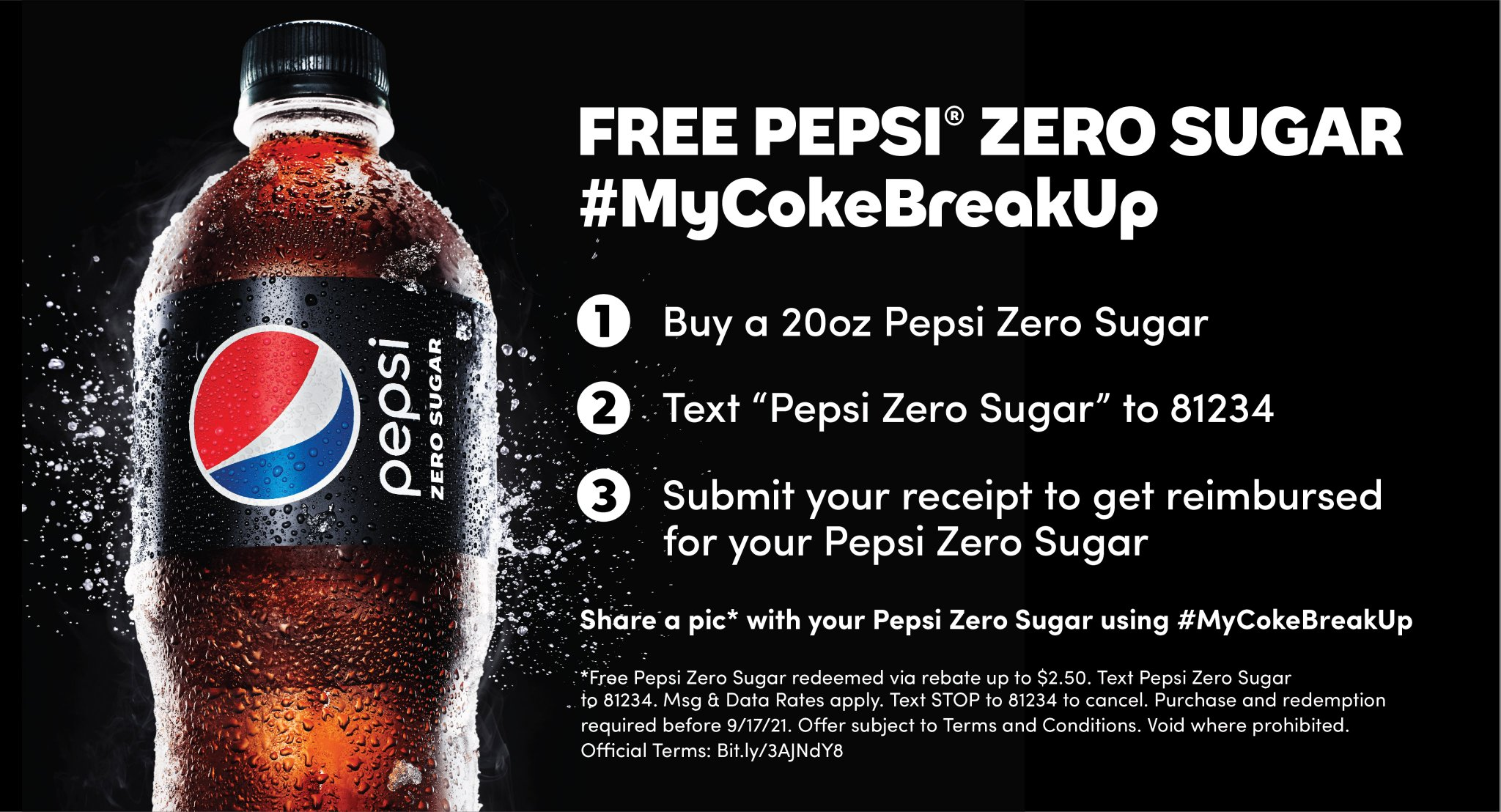 Free Pepsi Zero Sugar