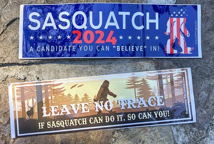 Free Sasquatch Bumper Stickers