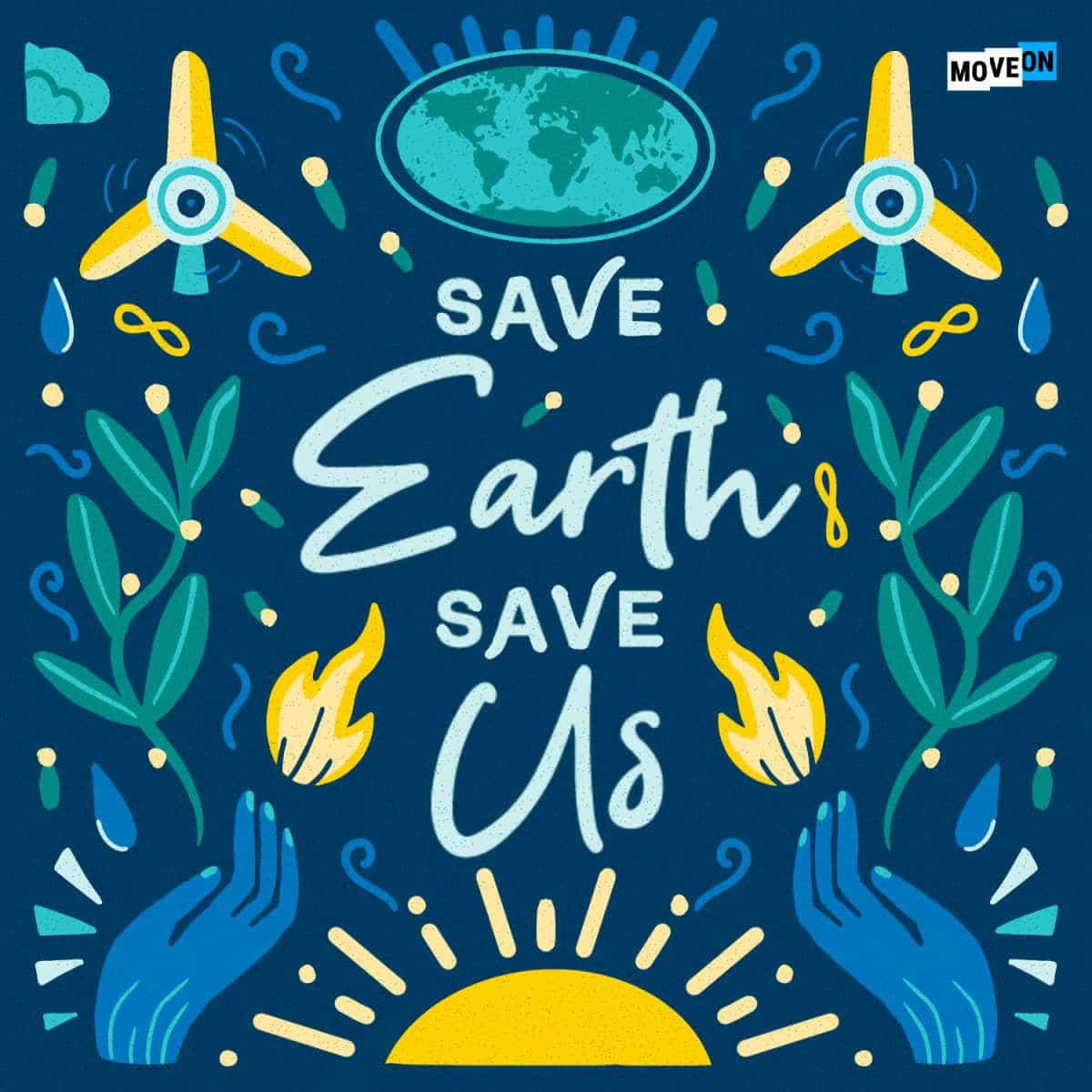 Free Save Earth Save Us Sticker