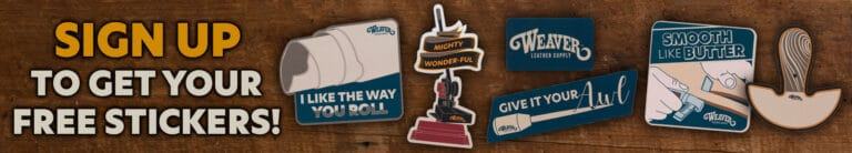 Free Weaver Leather Supply stickers