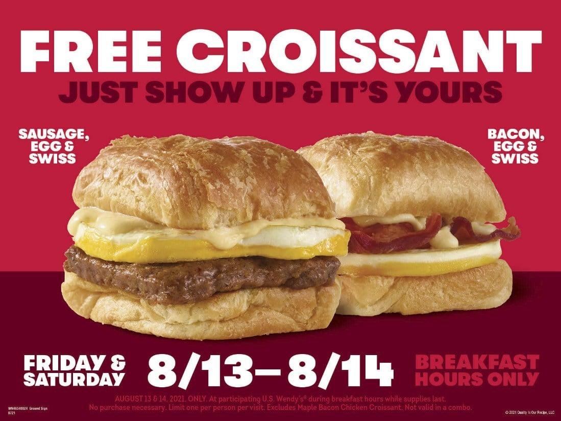 Free Wendys Breakfast Croissant