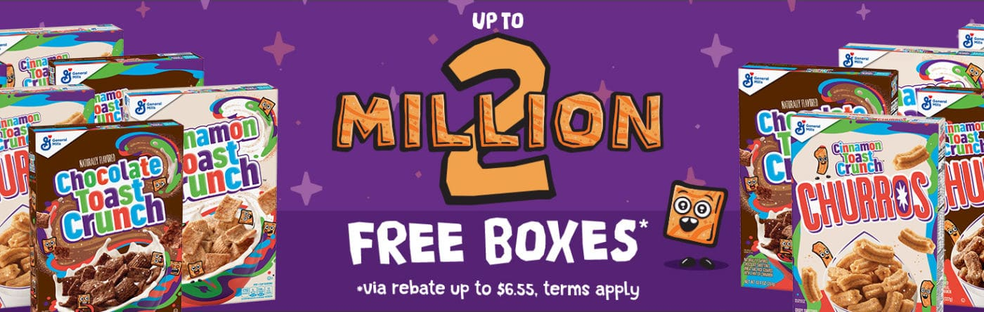 Free Box of Cinnamon Toast Crunch Cereal