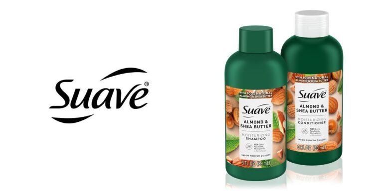 Free Suave Almond & Shea Butter Moisturizing Shampoo and Conditioner