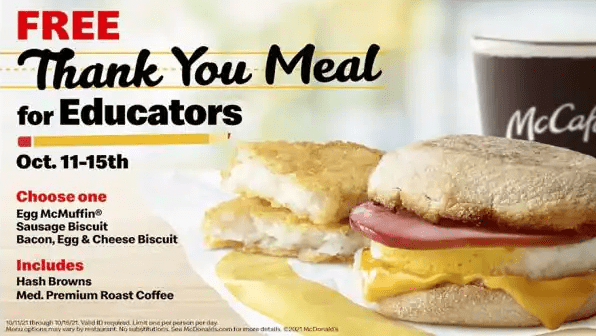 Free Mcdonalds Combo Breakfast